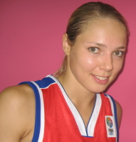 Ilona Korstin gives a smile at EuroBasket