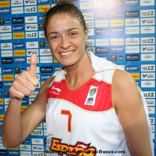Isabel Sanchez at EuroBasket women 2009 © womensbasketball-in-france.com