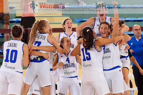 Italy U18 on top of the World after beating Slovenia (59-58)