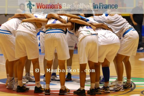 Italy U16 players in the huddle  © Masbasket.com