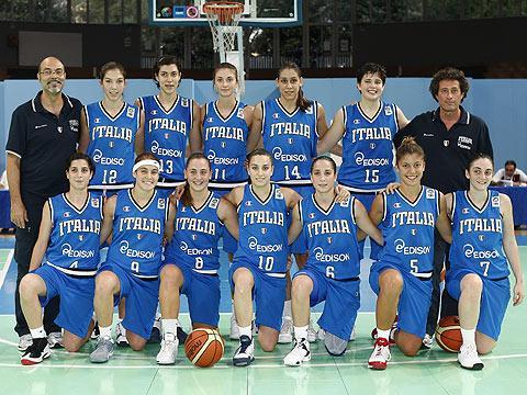 Italy U16 team picture - U16 FIBA Europe European Championship Women Division A © Ciamillo-Castoria