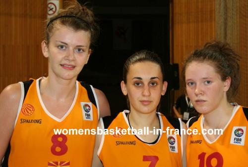 Jelena Antik and Ana Tanturovska and Andzelika Mitrasinovik  © womensbasketball-in-france.com