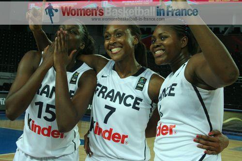 Jennifer Digbeu, Sandrine Gruda Isabelle Yacoubou-Dehoui  ©  womensbasketball-in-france.com
