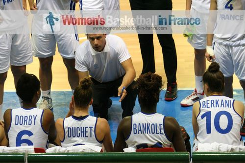 Julien Egloff French coach at 2014 FIBA U17 World Championship Women