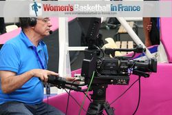 LFB TV camara man in action at the 2013 Open LFB in Paris