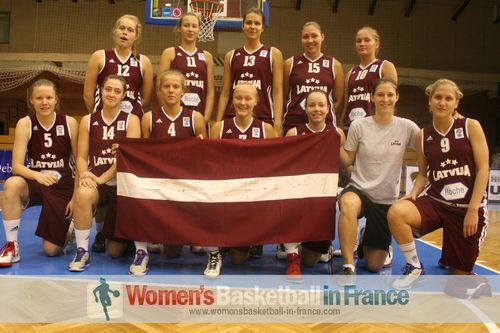 Latvia 2012 U20 team on final day with the Flag from 200