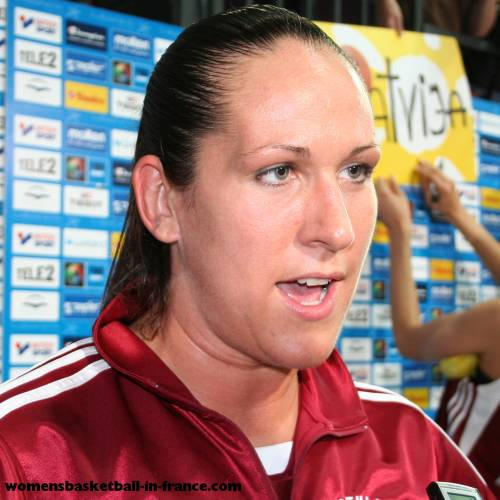 Liene Jansone at EuroBasket Women 2009 © womensbasketball-in-france