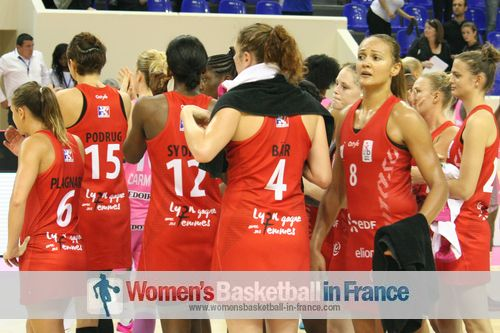 Lyon after LFB Challenge round trophy