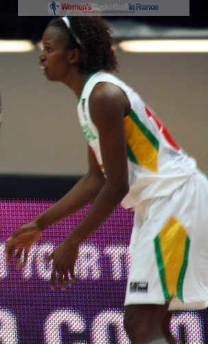 Mame-Marie Sy-Diop at the 2010 Fiba world Championship for women © Womensbasketball-in-france.com