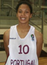 Maria Correia playing for Portugal in Elilat © WomensBasketball-in-france.com
