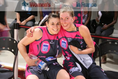Mélissa Micaletto and Jenny Fouasseau  in 2011  ©  womensbasketball-in-france.com