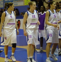 Tarbes players at start of match