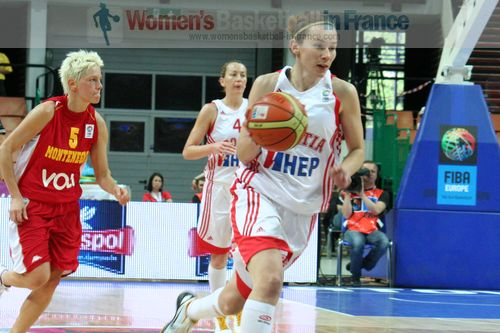 Marta Cakic playing basketball at EuroBasket 2011: Croatia vs. Montenegro