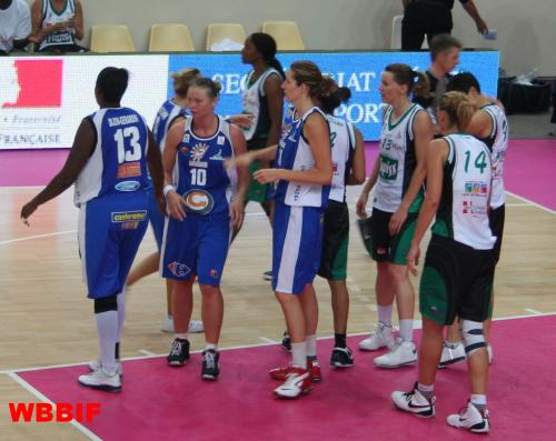 Challes les Eaux against Montpellier at the Open LFB 2009  ©womensbasketball-in-france.com