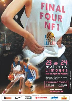 2009 NF1 final four poster © FFBB