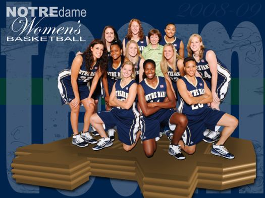 Notre Dame 2008-2009 team wallpaper © University of Notre Dame - The Official Athlectic site