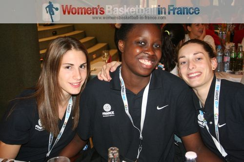 Romane Bernis Christelle Diallo and Agathe Degorces