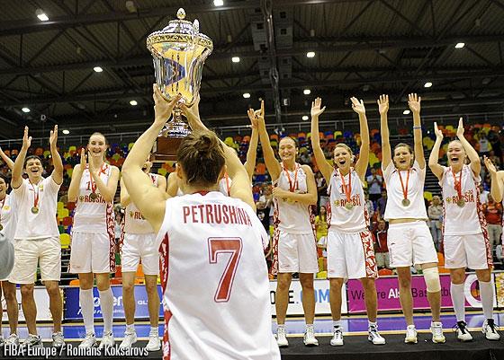 2010 Champions are Russia © FIBA Europe