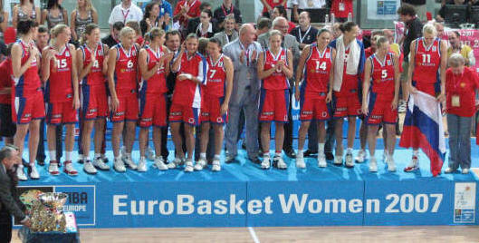 Olympic Qualifiers success for Russia at Eurobasket  Women 2007