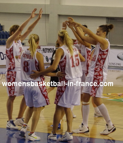 Russia U18 open with a win at the 2010 European Championship Women © womensbasketball-in-france.com