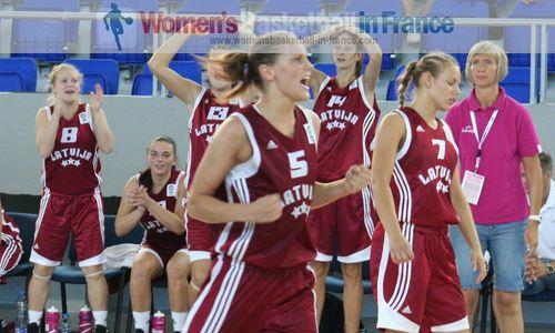 Sabina Niedola screaming for joy on qualifying © womensbasketball-in-france.com