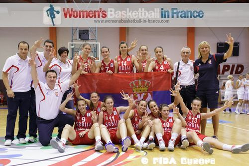 Serbian U18 players the at the FIBA Europe 2012 U18 European Championship final © FIBA Europe