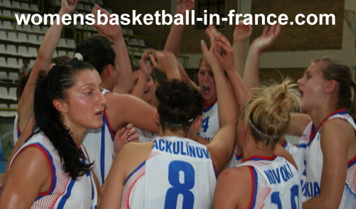 Slovak Republic U20 beat Israel © womensbasketball-in-france.com
