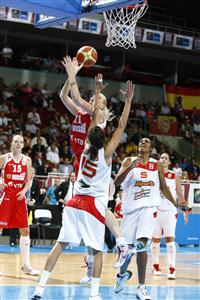 Maria Steponova at EuroBasket women 2009 semi-final © Agenzia Ciamillo-Castoria/E.Castoria