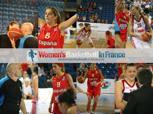 Spain against  Russia  in the 2012 U20 fina