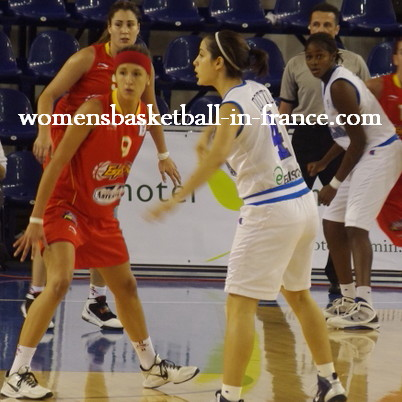 Spain playing Italy in the final of the U18 FIBA Europe European Championship Women Division A final © womensbasketball-in-france.com