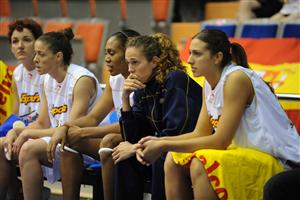 Spanish Women basketball players looking on at EuroBasket Women 2009 © Ciamillo Castoria
