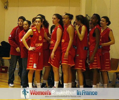 Spain U16 players in the looking on in Poinçonnent