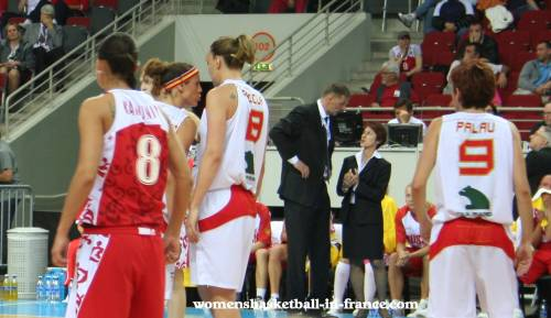 Sspain and Russian players during the EuroBasket women 2009 semi-final © Womensbasketball-in-france.com
