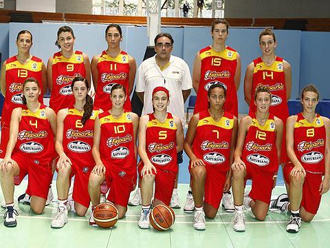 Spain U16 team picture - 2009 Naples © Ciamillo-Castoria