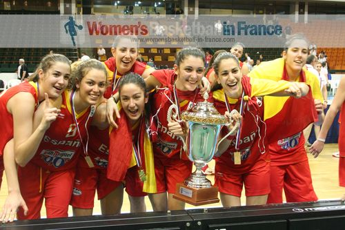 Spain U20 players with the 2011 European Championship trophy