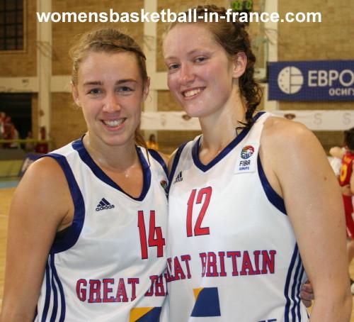 Tamzin Barroilhet and Mairi Buchan_ © womensbasketball-in-france.com