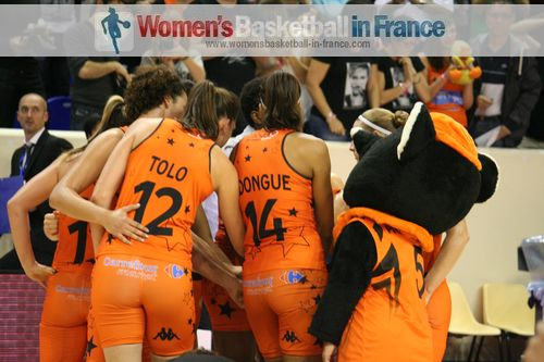 Tango Bourges Basket players at the 2013 open LFB