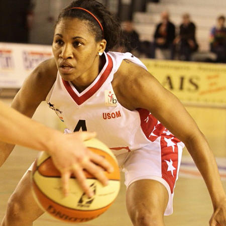 Temeka Johnson( USO Mondeville) ©  sports caen