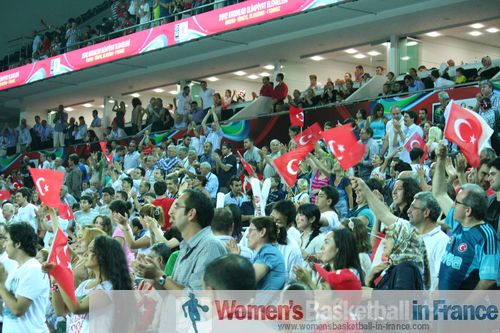 Turkish fans at FIBA 2012 Olympic Qualifying Tournament for Women ©  womensbasketball-in-france.com