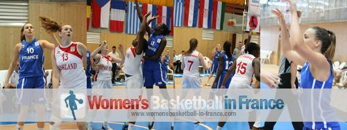 France and England  U16 in Miskolc © womensbasketball-in-france.com