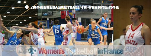 Croatia  U16 against Italy U16 in Miskolc © womensbasketball-in-france.com