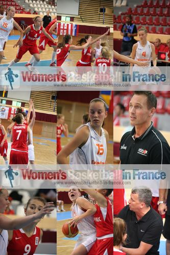 Netherlands   U16 against Czech Republic U16 in Miskolc © womensbasketball-in-france.com