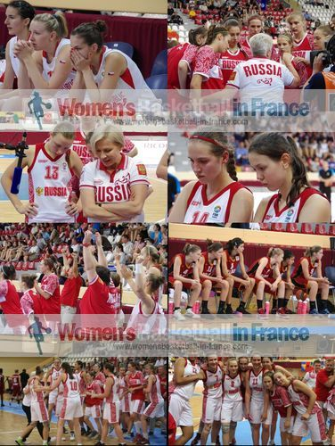 Russia U16, Belgium and the Czech Republic U16 players on final day in Miskolc at the FIBA  Europe U16 European Championship final © womensbasketball-in-france.com