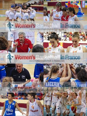Picture strip from Spain and Italy playing the at the FIBA Europe 2012 U16 European Championship final © womensbasketball-in-france.com