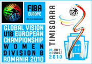 FIBA Europe U18 European Championship poster 2010 © womensbasketball-in-france.com