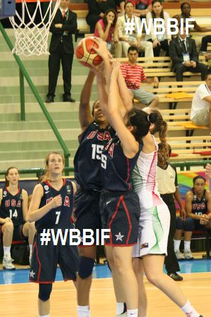 USA U17 players crashing the boards at the 2014 FIBA  u17 World Championships