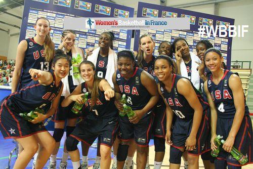 Team USA U17 2014: Anna Wilson, Natalie Chou, Arike Ogunbowale,  Sabrina Ionescu, Kennedy Burke, Joyner Holmes 11, Asia Durr, Delanae Boykin, Katie Samuelson, Lauren Cox, Nancy Mulkey, Kristine Anigwe