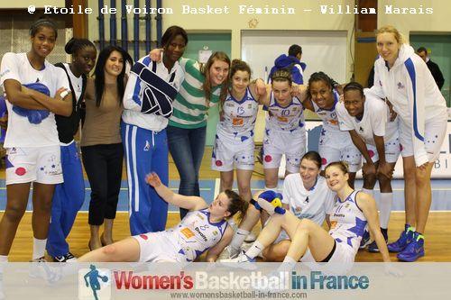 Etoile de Voiron Basket Féminin players after beating COB Calais © Etoile de Voiron Basket Féminin - William Marais