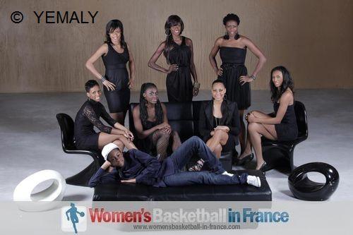 Bintou Dieme, Krisy Bade, Lyganou Angoue, Emilie Gomis, Kathy Wambe,  Fatimatou Sacko, Geraldine Robert