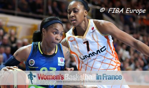 Cappie Pondexter and Sandrine Gruda
